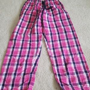 Other - Pink and blue plaid pajama pants